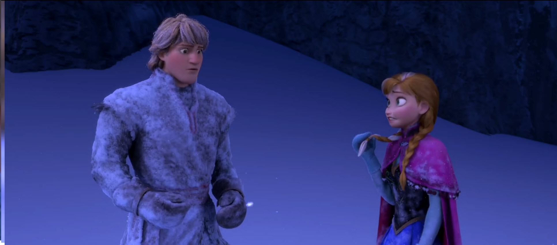 Anna Talking About Han's Foot Size in Frozen